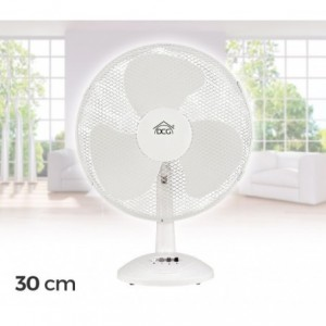 DCG - Ventilateur avec 3 lames réglables 3 vitesses 34,5 x 23,2 x 46cm