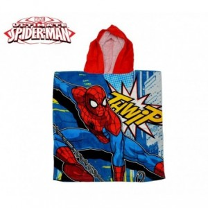 MV92261 - Peignoir avec capuche en coton - Spiderman 120x60cm