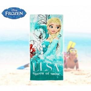 WD16937 - Serviette de plage princesse Elsa - La Reine des Neiges - 140x70 cm 100% coton
