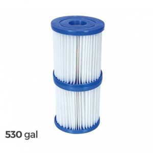 58094 - Kit de 2 filtres de rechange pour piscine Bestway 2006/3028 LT / H - 530 gallons