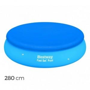 58032 - Couverture pour piscine gonflable - Bestway - 280 cm en PE