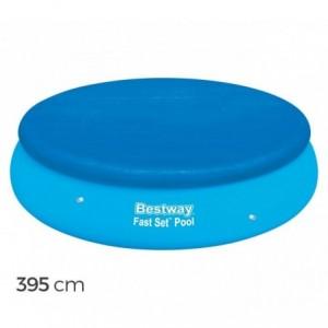 58034 - Couverture pour piscine hors sol - ronde - 395 cm Bestway en Pvc