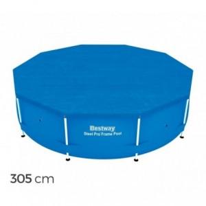 58036 - Couverture pour piscine hors sol Bestway feuille de polyéthylène de 305 cm