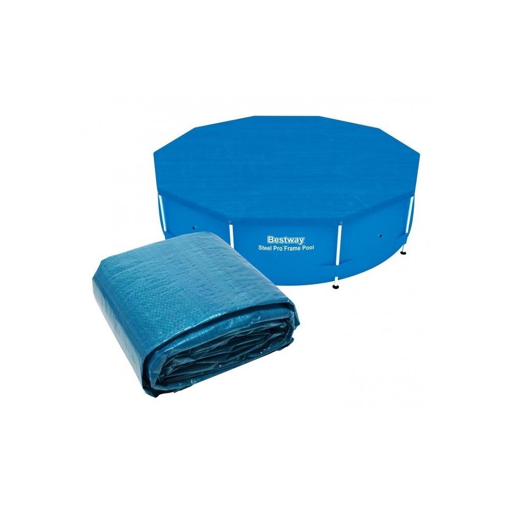 58036 couverture pour piscine hors sol bestway feuille de. Black Bedroom Furniture Sets. Home Design Ideas