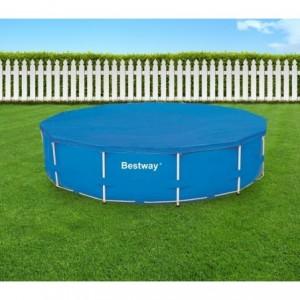 58037 - Couverture pour piscine hors sol Bestway feuille de polyéthylène de 366 cm