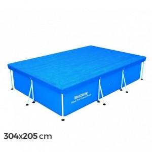 58106 couverture de piscine rectangulaire 304x205 cm PVC Bestway