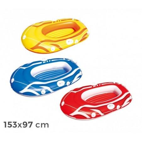 61050 - Canot pneumatique en 3 couleurs 155x93cm pour les enfants et les adultes