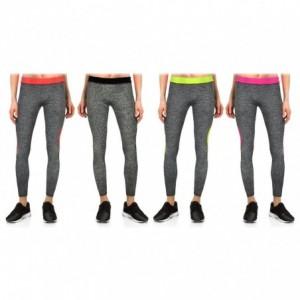 KZ151 - Leggings tissu technique aux chevilles - sport femme