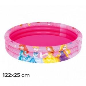 91047 - Piscine gonflable 122x25 cm Princesses Disney - trois anneaux rose