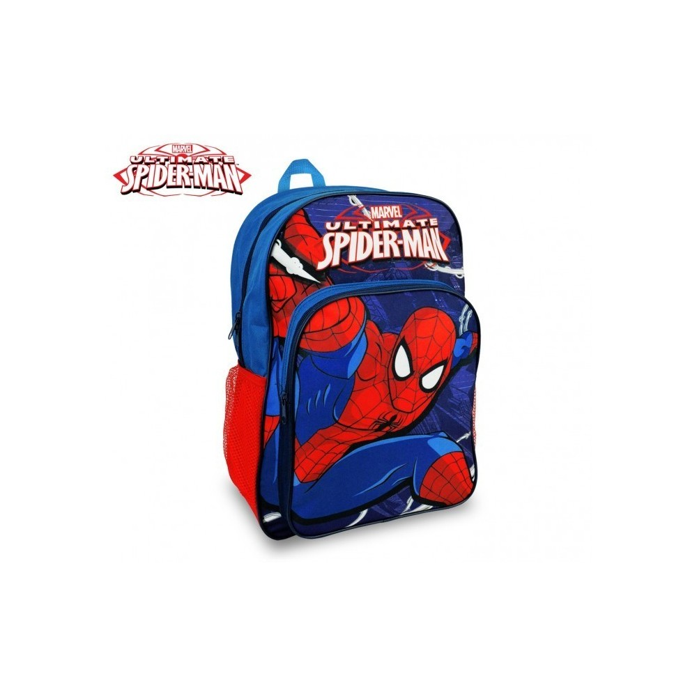 SP16102 - Sac à dos - Cartable - adaptable au chariot - Spiderman - 42x31x12 cm
