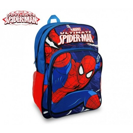 SP16102 - Sac à dos Cartable adaptable au chariot - Spiderman - 42x31x12 cm