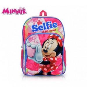 MI16102 - Sac à dos pour l'école adaptable au panier - Minnie Mouse - 42x31x12 cm - DISNEY