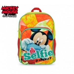 MK16102 - Sac à dos scolaire épaule adapté pour le transport - Mickey Mouse - 42x31x12 cm - DISNEY