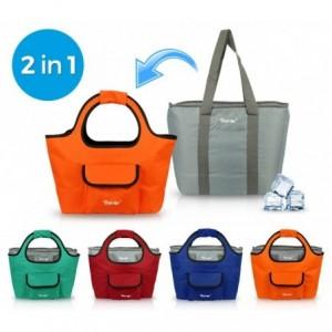 161227 Sac 2 en 1 isotherme et sac de shopping FREE GO différentes couleurs