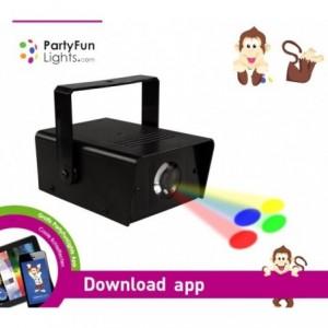863894 - Mini projecteur-phare-7 LED-PARTY-FUN LUMIERE mod. Effet disco [Efficacité énergétique classe A ++]