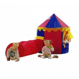 167830 - Tente de campagne pour enfants avec motif cirque (comprend tunnel) - 260x105x125 CM - Ligne Cigioki