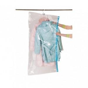 Sac housse de rangement sous vide avec ceintre pour organiser les vêtements dans l'armoire