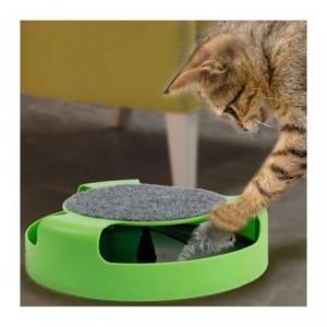Jouet chat avec la souris piégée à l'intérieur (25 cm)