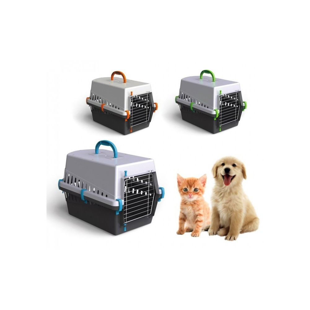 10571 caisse de transport avec grille en metal pour chiens. Black Bedroom Furniture Sets. Home Design Ideas