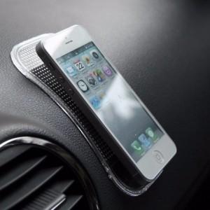 Support anti-glissement de silicone telephone smartphones objets de tableau de bord - voiture