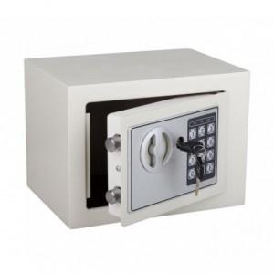 Coffre-fort électronique avec batterie (23 x 17 cm) (Gris)