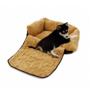 Couffin depliable double fonction panier pour chien doux 82x46x18