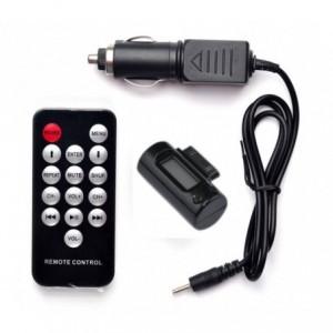 Transmetteur FM mp3 compatible iPhone 3GS 4G iPod avec télécommande