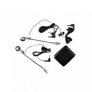 Kit ecouteur moto pour deux casques connexion audio - mp3 - radio